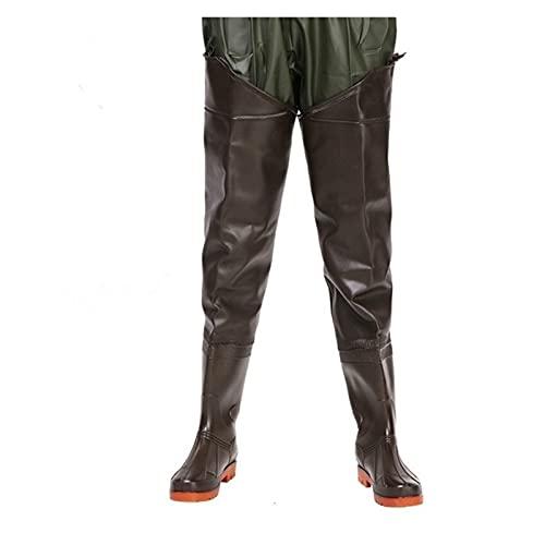 Pu-ai Waders de Pesca Impermeable con Botas de Lluvia Antideslizantes para Hombres Mujeres al Aire Libre (Color : 1, Size : EU 41 Size)