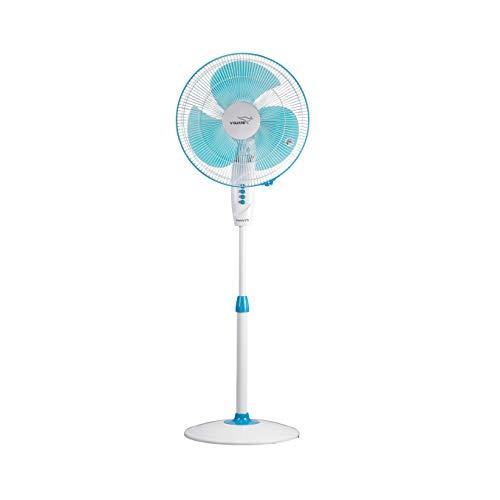 v-guard finesta sts 400mm 1350 rpm pedestal fan(white blue) (2 year warranty)