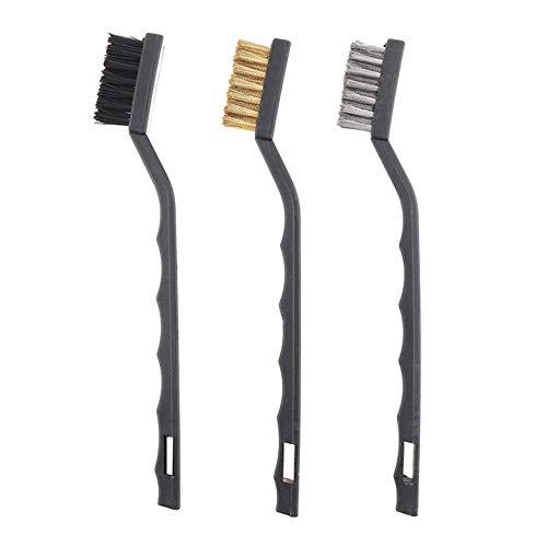 YT-6351 Yato Professional Wire Brush Set 3 pcs Nylon, Brass, Stainless Steel