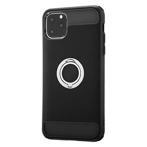 レイ・アウト『iPhone11ProMax耐衝撃ケースリング付360/ブラックケース(RT-P22AC2)』