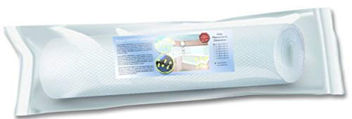 DRYWEAVE 10 gestoffeerde onderlegger matrasonderlegger, 100% PES monofilamenten, wit, 201 x 140 cm