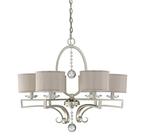 Savoy House 1-250-6-307, Rosendal 6-Light Chandelier, Silver Sparkle