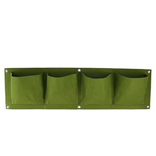 Ponacat Maceta colgante de jardín con 2/4/6 bolsillos, diseño horizontal vertical, impermeable, montado en la pared, bolsa de fieltro, bolsa de cultivo para flores, verduras, jardín