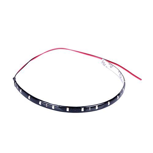 Favor Best Lot de 4 brandes LED flexibles étanches 1210 SMD CC 12 V 30 cm