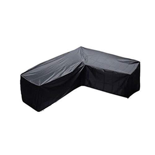 L-förmigen Rechte Seite Lang Garten Abdeckung Lounge Sofa Eck-loungemöbel Schutzhülle Regenschutz Für Terrassenmöbel Atmungsaktiv Oxford Gewebe Polyester Staubdicht Frostbeständig Uv-schutz,222*286cm