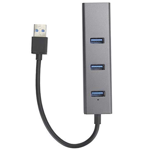 YMC-B219C Adaptador de concentrador USB Gigabit Ethernet de 3 Puertos USB3.0, Tiene tasas de Transferencia de Datos rápidas de hasta 5 Gbps para Chrome/Linux/OS X/Windows Flash Drive Mobile HDD