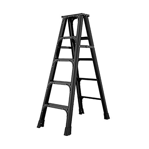 YHYH Escalera Plegable De Doble Cara De 5 Peldaños Escaleras De Tijera De Aluminio Ligero Y Engrosado con Diseño De Refuerzo En Forma (Color : 5-Step Ladder)