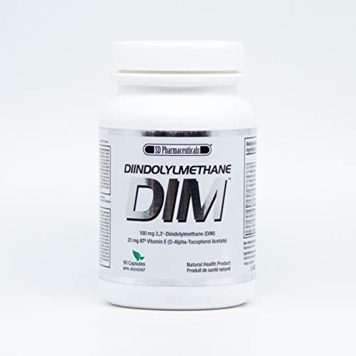 DIM (Diindolymethane) 90 Caps (100 mg+) | Estrogen Balance for Men & Women/Support Metabolism