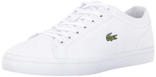 Lacoste Womens Straightset Bl 2 Sneaker, White, 9 M US