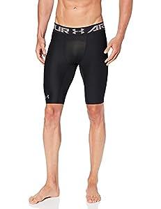 Under Armour Men's HeatGear Armour Long Compression Shorts, Black/Graphite, Medium from Under Armour Apparel