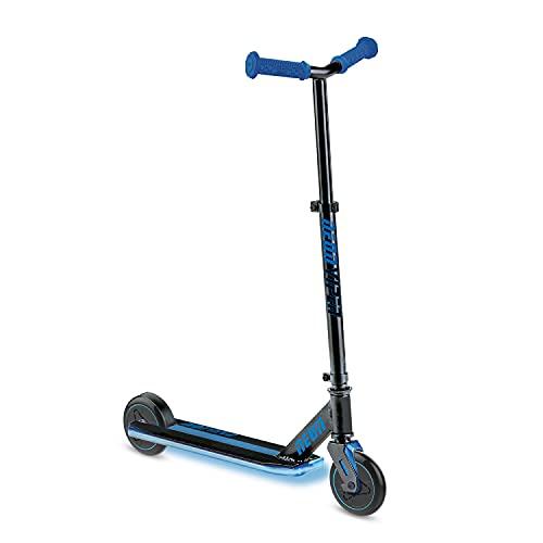 mondo Toys - Trottinette 2 Roues Lumineuse - LED - Neon Viper - Bleue - Glisse Urbaine - Enfant - 5 Ans et Plus - 25190