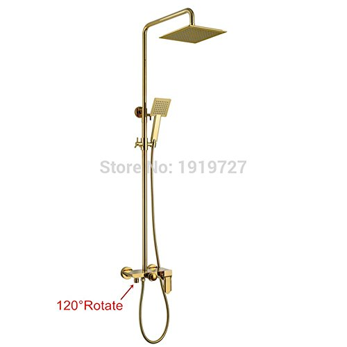 AllureFeng Les nouvelles de haute qualité patio de luxe murs baignoire robinet de douche salle de bains de douche avec un système d'agitation