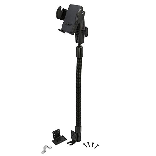 Arkon Car or Truck Seat Rail or Floor Phone Holder Mount for iPhone 12 11 XS Max XS XR X Retail Black