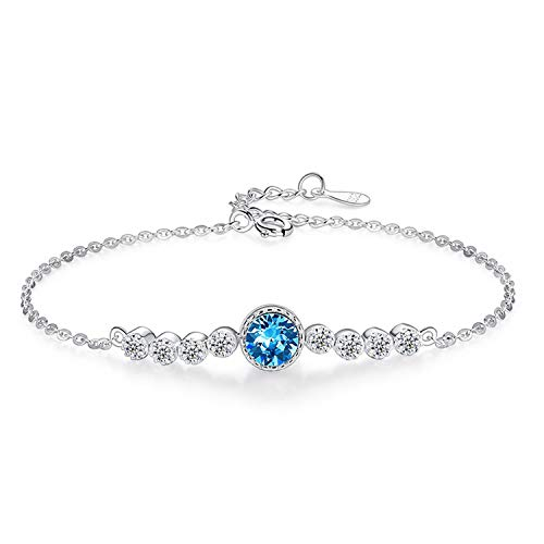 Wwgrysp Accessories Exquisite small heart of the sea braceletSterling silver fashion all-match Send friends, relatives, lovers