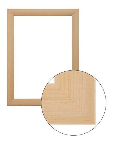 FramoLUXUS 80 cm x 100 cm MDF Holz Bilderrahmen in Farbe Buche