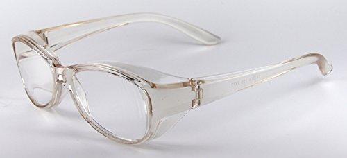 日本製 ズームシニアグラス メガネ型 拡大鏡 (ブラウン, 1.6倍)