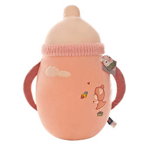 NUOBESTY Schattig Kussen Babymelk Fles Shpe Kussen Zacht Knuffel Pluche Kussen Gevuld Katoen Knuffel Voor Kinderen Peuter Willekeurige Kleur