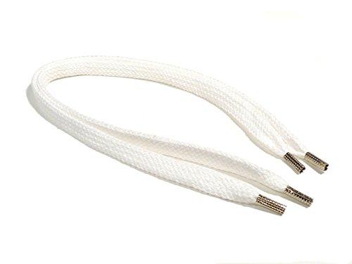 REMA 1 Paar Schnürsenkel Weiss - flach - breit - von 20 cm - 500 cm (125 cm, Weiss)