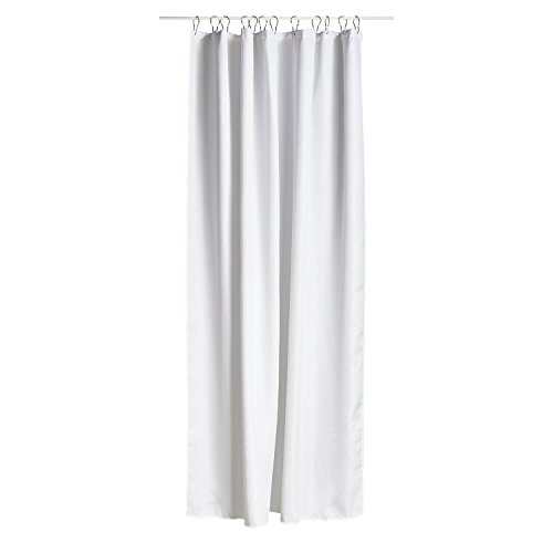 Zone Denmark Lux Polyester Weiß Duschvorhang Dusche-Gardinen, Einfarbig, Polyester, Weiß, 2m, 1800mm
