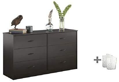Mainstays Drawer Dresser, (6-Drawer, Espresso + Free Bundle)