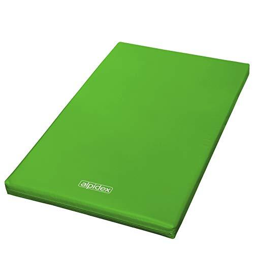 ALPIDEX Matte Turnmatte Sportmatte Gymnastikmatte 200 x 120 x 8 cm mit Antirutschboden RG 20 (sehr weich), Farbe:grün