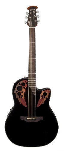 Ovation CE44-5 Acoustic-Electric Guitar, Black