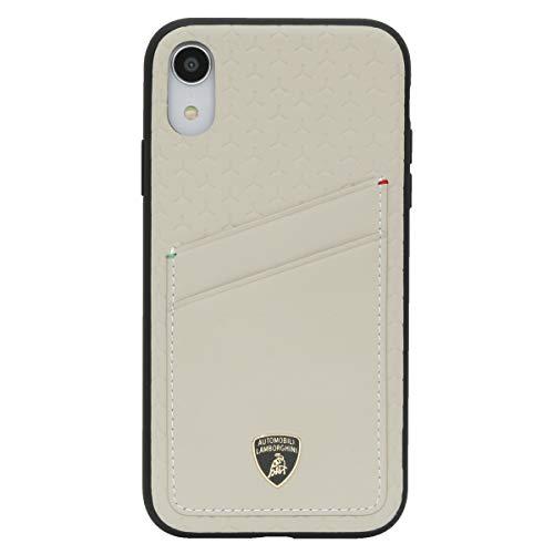 Automobili Lamborghini Aventador D10 Premium - Funda de piel para iPhone XR, color beige
