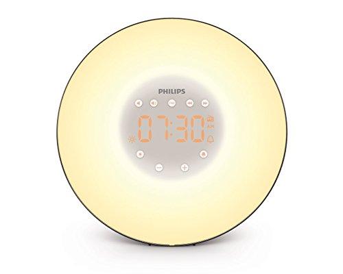 Lowest Price! Philips Wake-Up Light with Sunrise Simulation and Radio, Black, HF3506