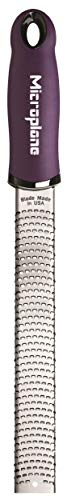 Microplane Zester Rallador, Acero Inoxidable, Violeta, 32.50x3.5x2.56 cm