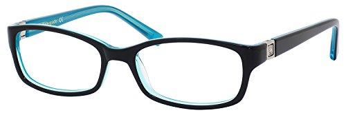 Kate Spade Regine Eyeglasses-0DH4 Black Aqua-52mm