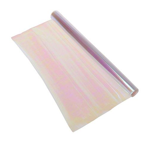 Película protectora de vinilo para faros delanteros de coche, 100 x 30 cm, color cambiante (multicolor transparente)
