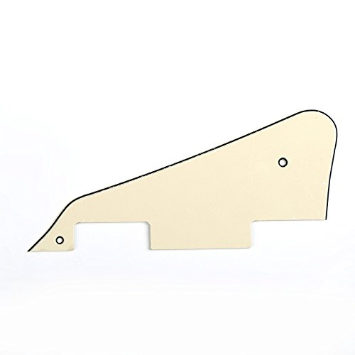 Musiclily Pickguard Golpeador para Gibson Les Paul Estilo Moderno,3 capas Crema
