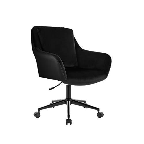 Halter Executive - Silla de escritorio de oficina para el hogar, pequeña silla de ordenador para adultos, extra ancha, cómoda, espalda media, moderna para juegos o estudio para...