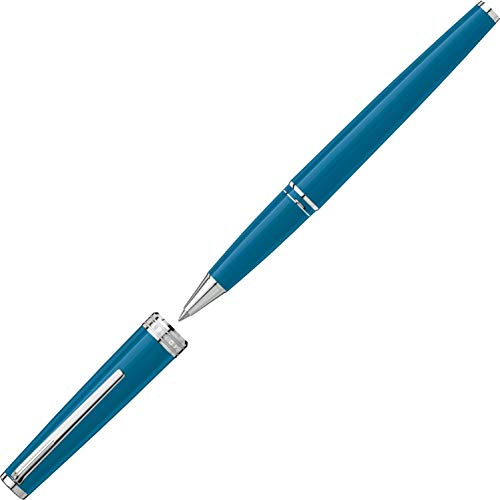 Rollerball Montblanc PIX azul petróleo con detalles plateados, 119583.