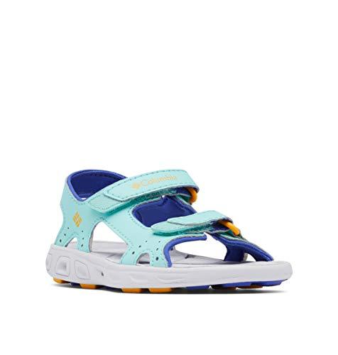 Columbia Kids Techsun Vent Sandal Sport, Aquarium/Bright Marigold, 4 US Unisex Toddler