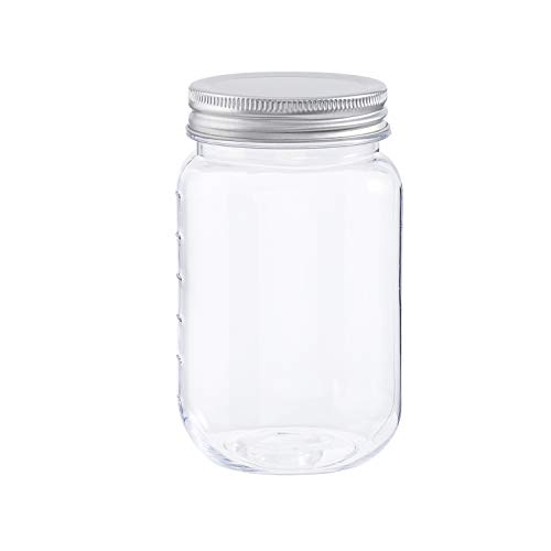 Darice Plastic Lids, 16 Ounces, 3 Pack Storage Jars, Clear