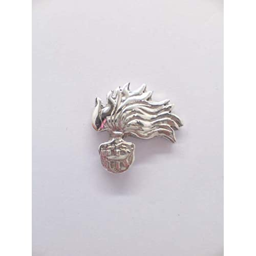 Fiamma dell'Arma dei Carabinieri - Spilla da giacca in Argento 925 - stemma - simbolo - logo - pins