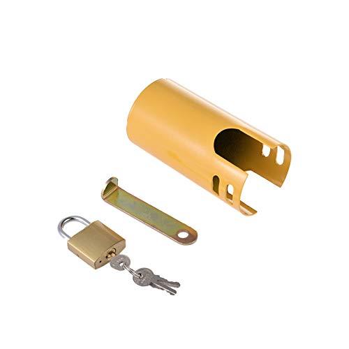 Hhinffinity - Candado antirrobo para grifo, para exterior, cocina, jardín, antirrobo, protección de metal