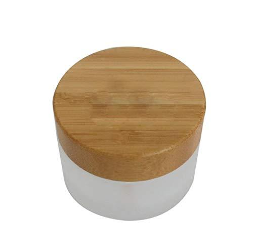Vide Flacon rechargeable Verre dépoli Crème Crème contour des yeux Lotion bocaux avec l'environnement en bambou Coque DIY Cosmétique Beauté du visage de conservation support