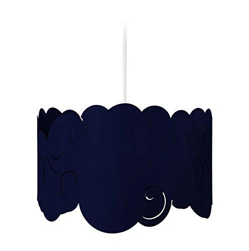 Tosel 17334 Suspension 1 Lumière, Acier, E27, 40 W, Bleu, 30 x 90 cm
