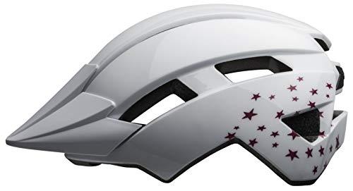 BELL Sidetrack II Casco de Bicicleta, Unisex niños, Estrellas Blancas, Talla única