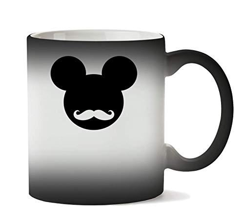 1GD Mickey Mouse Hipster Logo Graphic Taza Calor Cambio De Color