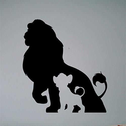 JJJHJ Calcomanías de vinilo del Rey León pegatinas de cómic retro interior de la familia habitación infantil para niños mural extraíble