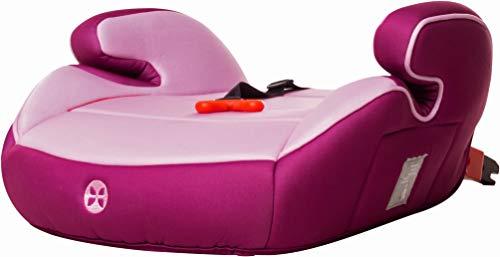 Kindersitzerhöhung mit Isofix und Gurtfix, Gruppe 2/3, (3-12 Jahre), Babyblume BOOST Isofix Gurtfix, Pink