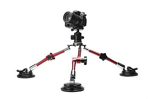 Professional Aluminium Alloy Universal Flexible vehical Camera Tripod with Suction Cup Mount Tripod Holder for DSLR Camera Camcorder