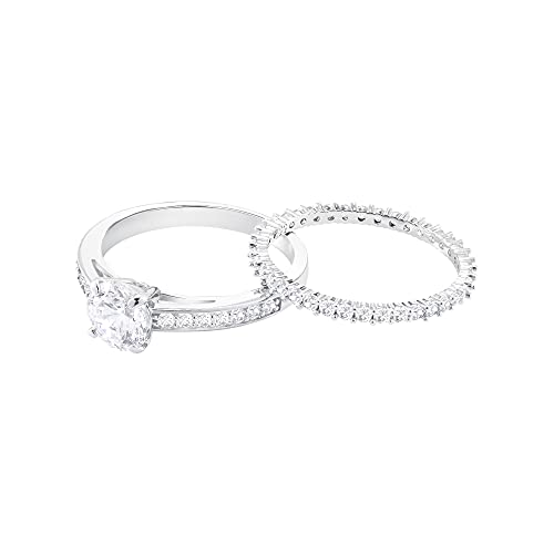 SWAROVSKI Attract Ring Set, White, Rhodium Plated (5184981)