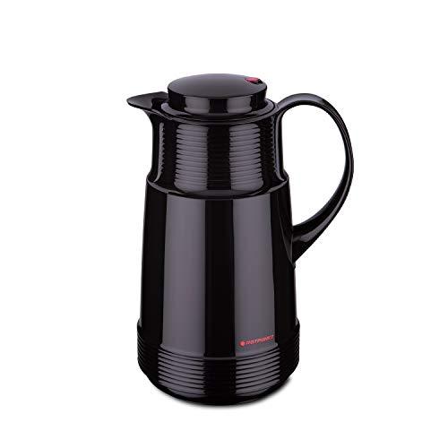 ROTPUNKT Isolierkanne 320 Katrin 1,0 l | Zweifunktions-Drehverschluss | BPA Frei- gesundes Trinken | Made in Germany | Warm + Kalthaltung | Glaseinsatz | ristretto