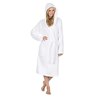 Forever Dreaming Ladies 100% Cotton Terry Towelling Hooded Robe
