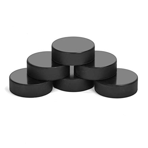 AceFox Ice Hockey Pucks for Practicing and Classic Training, Official Regulation, 6oz Diameter 3  Thickness 1  Black, Set of 6