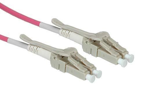 ROLINE LC/LC LWL Netzwerkkabel | Glasfaser Kabel | OM4 Duplex Patchkabel Low Loss | Violett 1 m